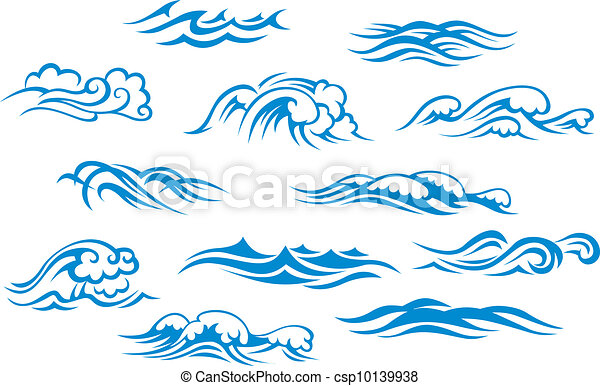 Ensemble Fond Isole Ocean Mer Vagues Blanc
