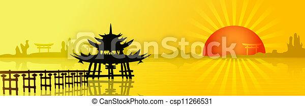 ocaso, asia - csp11266531