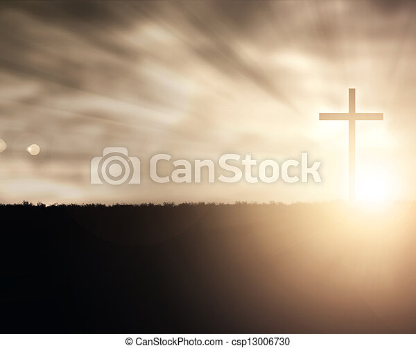 Sunset Cross - csp13006730