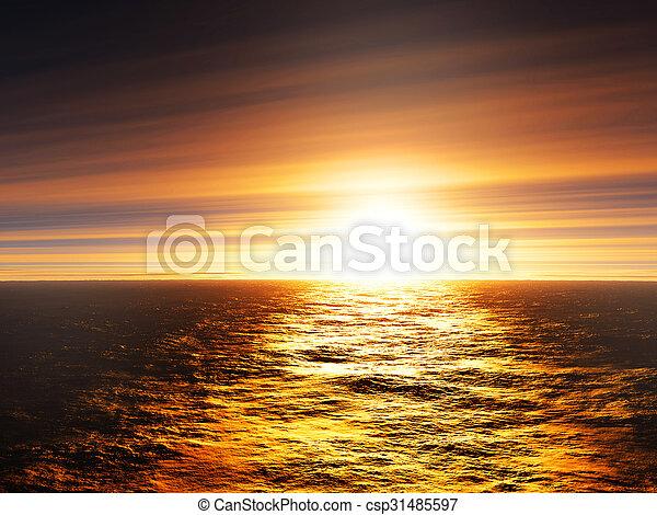 Sunset - csp31485597