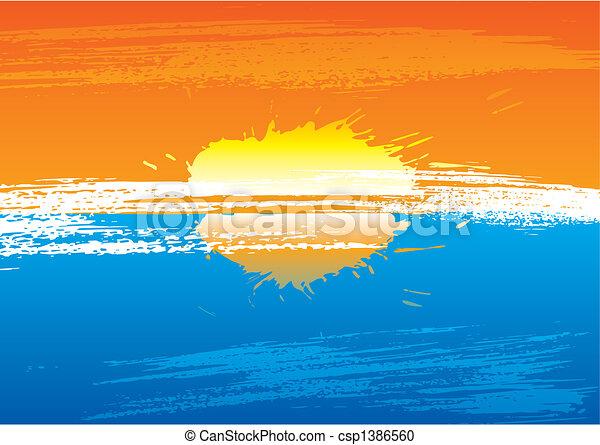 Sunset grunge - csp1386560