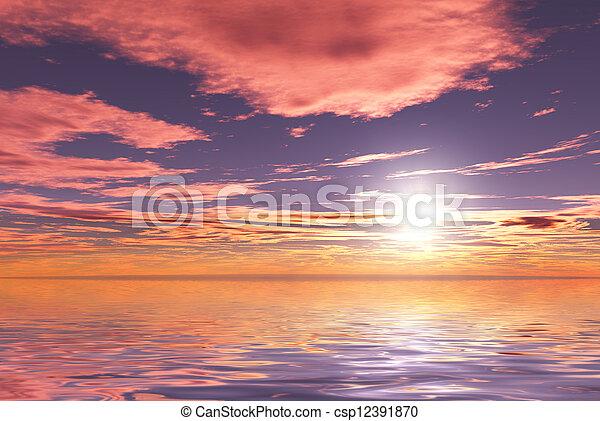 Sunset - csp12391870