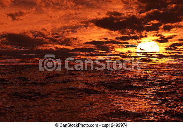 Sunset - csp12493974