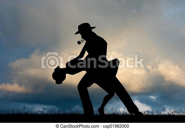 Tango al atardecer - csp51962000