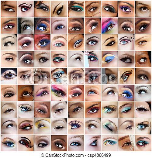 occhi, 81, pictures. - csp4866499