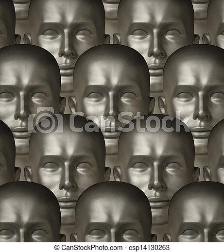 occhi, androids, robot, metallico, umano, uno - csp14130263