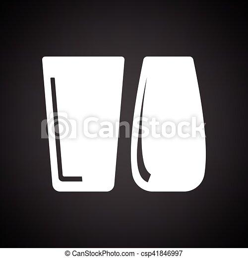 occhiali, due, icona - csp41846997