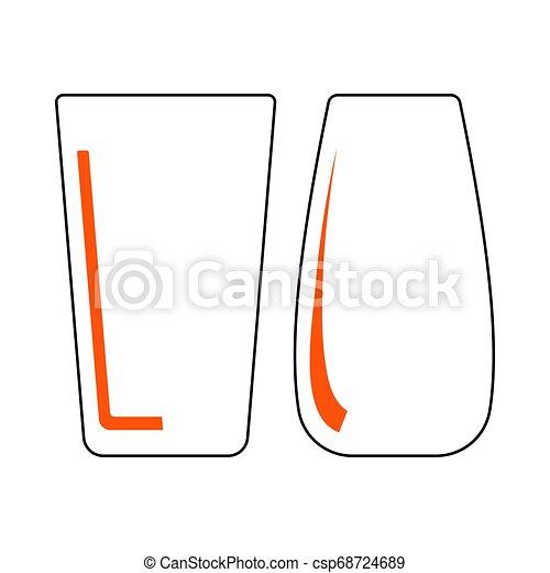 occhiali, due, icona - csp68724689