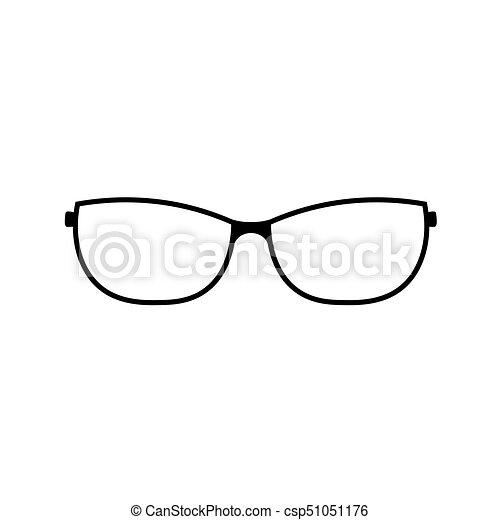 nuovo di zecca bd7a8 4436f occhiali, nero, icona