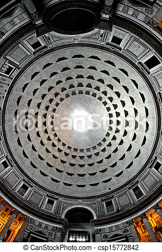 occhio, fish, lente, pantheon, interno, roma, preso, thetemple - csp15772842