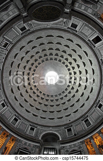 occhio, fish, lente, pantheon, interno, roma, preso, thetemple - csp15744475