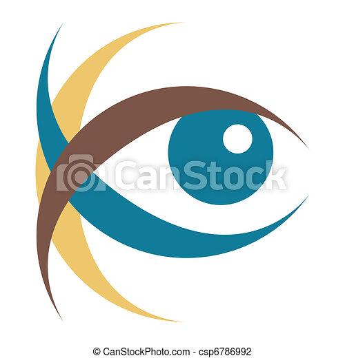 occhio, illustration., colpire - csp6786992