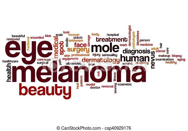 occhio, parola, melanoma, nuvola - csp40929176