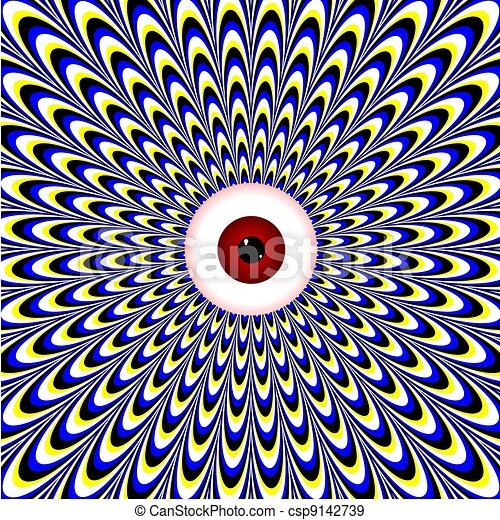 occhio, rosso, illusion), (motion - csp9142739