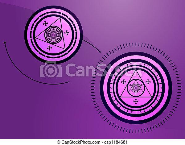 Occult symbols - csp1184681
