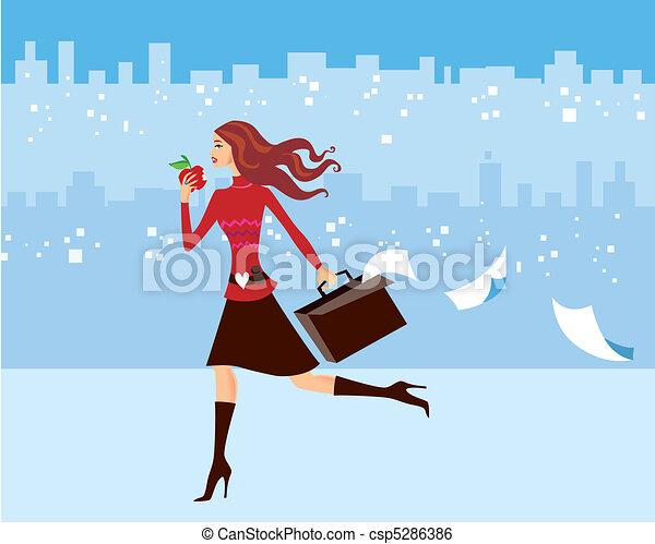 occupé, femme - csp5286386