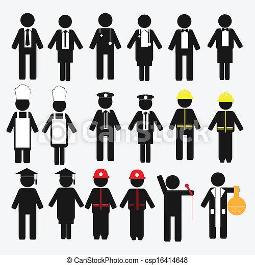 occupation, ensemble, icône - csp16414648