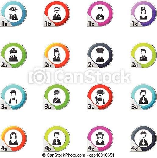 occupation icons set - csp46010651