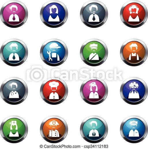 Occupation icons set - csp34112183
