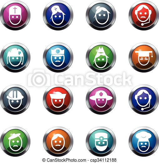 Occupation icons set - csp34112188