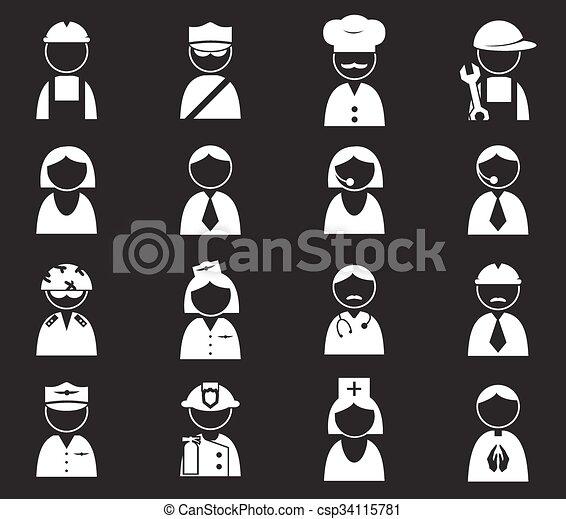 Occupation icons set - csp34115781