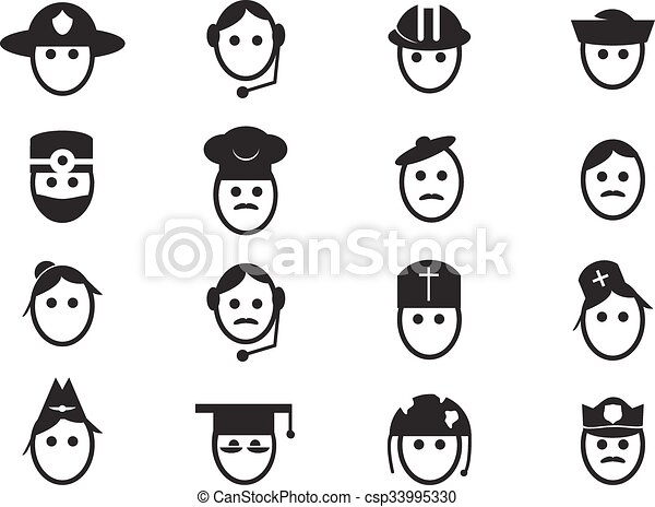 Occupation icons set - csp33995330