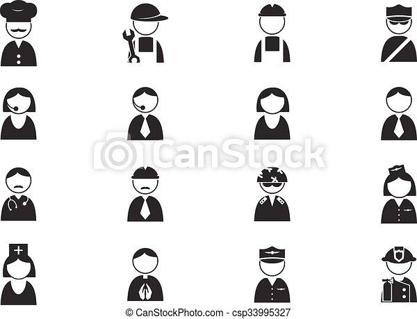Occupation icons set - csp33995327