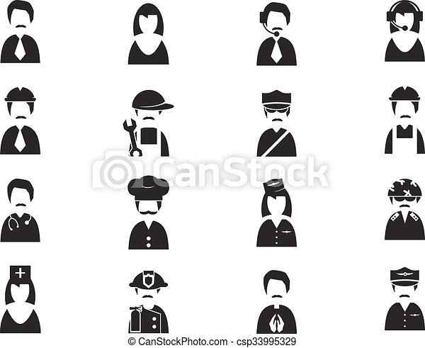 Occupation icons set - csp33995329