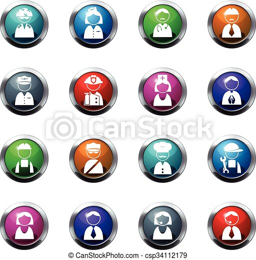 Occupation icons set - csp34112179