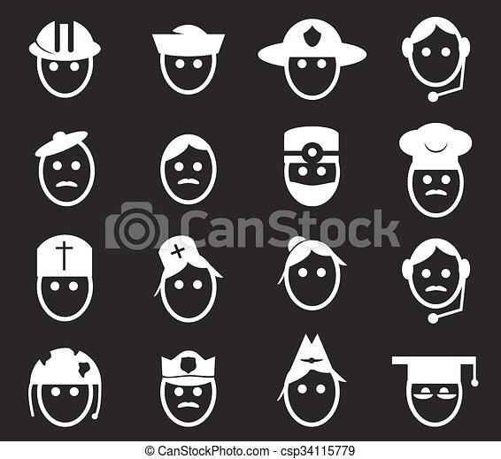 Occupation icons set - csp34115779