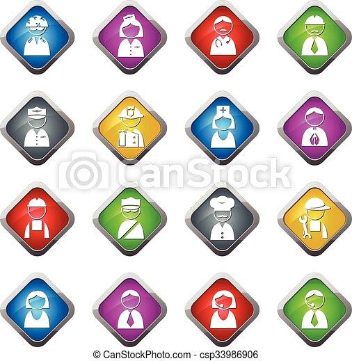 Occupation icons set - csp33986906