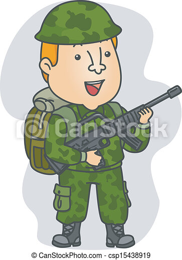 occupation soldier illustration of a man wearing camouflage rh canstockphoto com clipart soldiers passing out clipart soldier