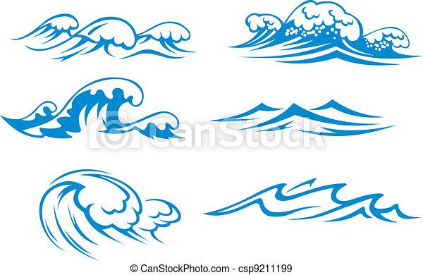 oceaan, zee, golven - csp9211199