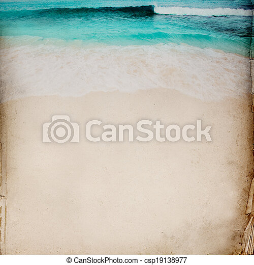 Ocean and Sand background - csp19138977