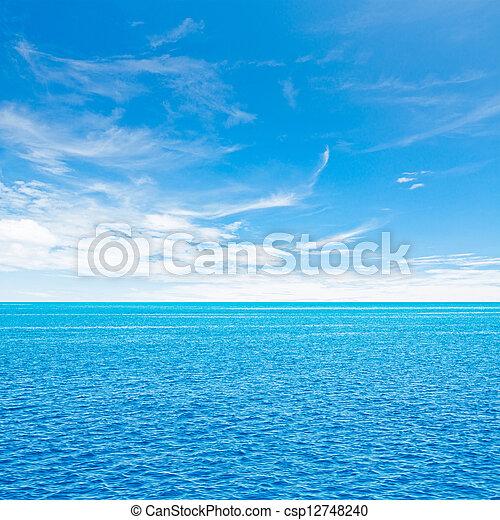 Ocean and sky - csp12748240