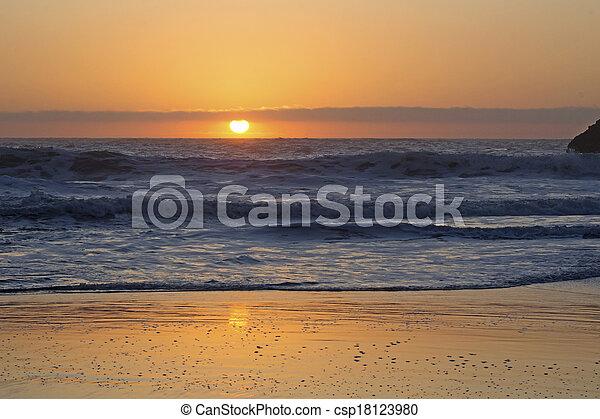 ocean at sunset - csp18123980