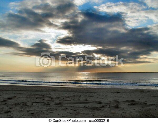 Ocean at Sunset - csp0003216