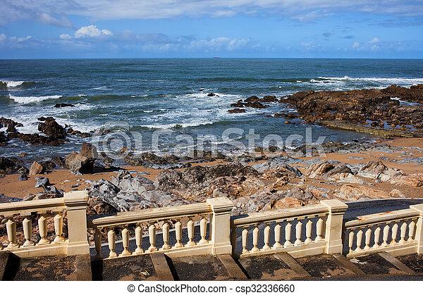 Ocean Coast Balustrade - csp32336660