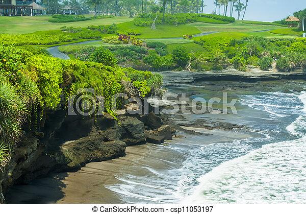 Ocean coast near Tanah Lot - csp11053197