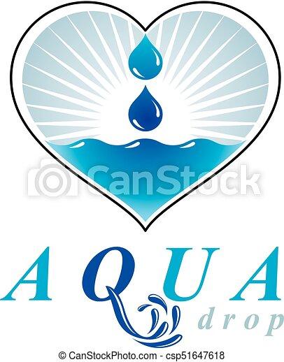 ocean freshness theme vector logo save water advertisement