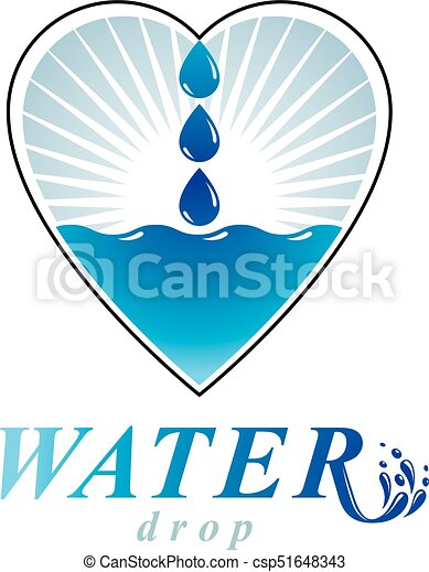 ocean freshness theme vector logo water cleansing advertisement