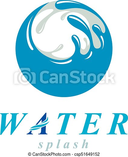 ocean freshness theme vector sign for use as corporate emblem in spa