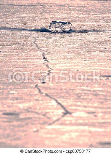 Ocean iceberg pieces, pure antarctic landscape. Iceberg floe - csp60750177