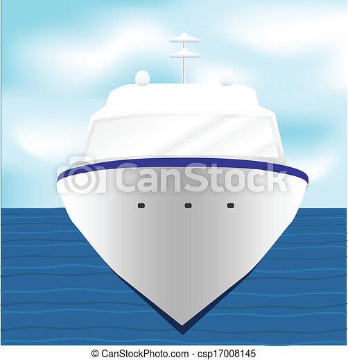 Ocean Liner Cruise Ship Boat at Sea artwork - csp17008145