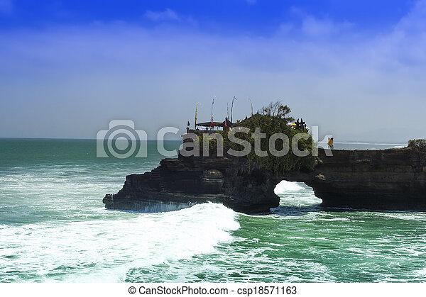 Ocean near Tanah Lot. - csp18571163