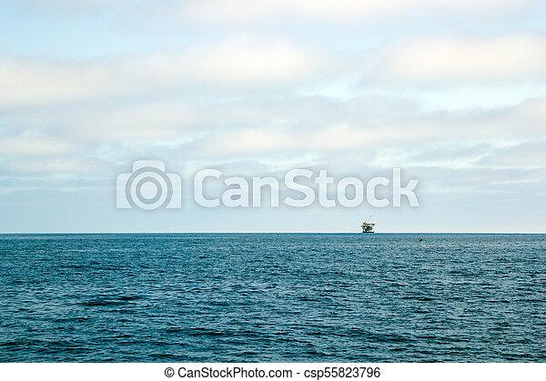 Ocean Oil Rig - csp55823796