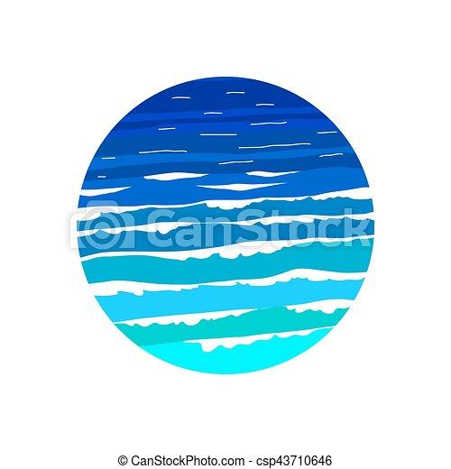 ocean sea wave logo design template csp43710646