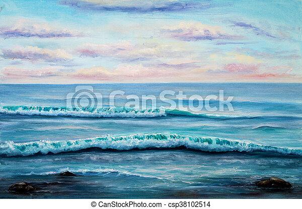 Ocean shore - csp38102514