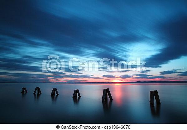 Ocean Sunset - csp13646070