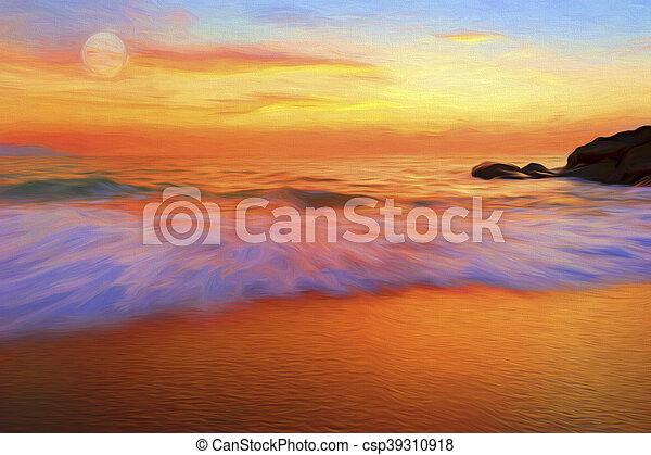 Ocean Sunset - csp39310918